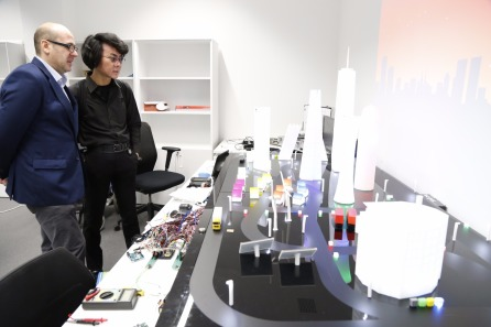 Hiroshi Ishiguro in BISITE Lab